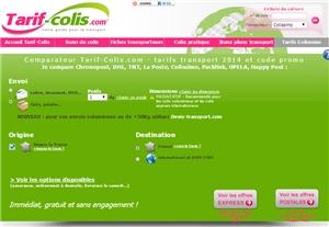 Présentation du site Tarif-Colis.